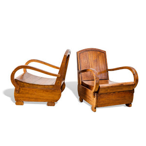 Teak Sedan Chairs- Set of 4