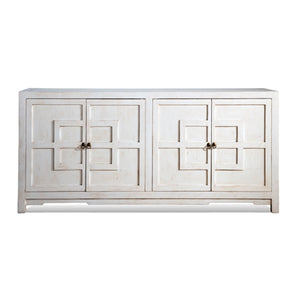 Key Cabinet 4 Door Sponge White