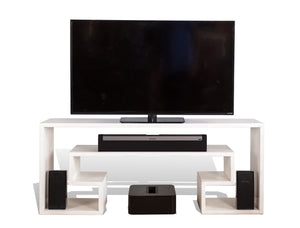 White Key TV Table