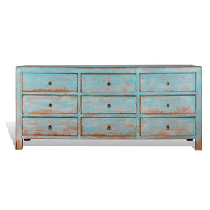 9 Drawer Reclaimed Wood Dresser