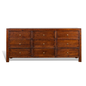 9 Drawer Dresser Walnut