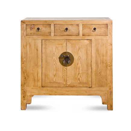 Natural Elm 2 Door Cabinet