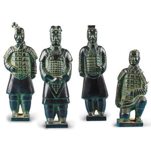 Metal Terra Cotta Warriors- Set of Four