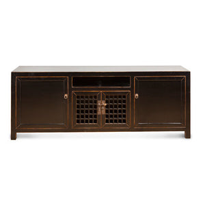 Lattice Door Media Cabinet