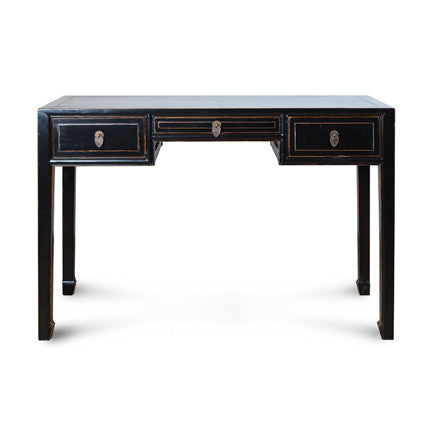 3 Drawer Ming Writing Desk - Distressed Finish #50703