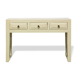 Parchment White 3 Drawer Console