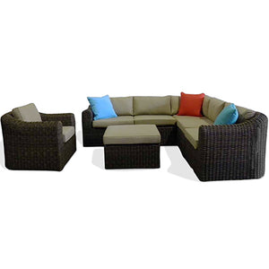 Outdoor Sectional Sofa & Chair Set