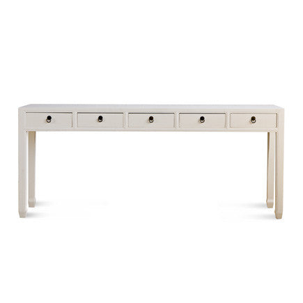 5 Drawer Console Table - Distressed Finish #90909