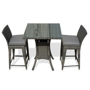 Outdoor Hightop Dining Table and Chairs Set