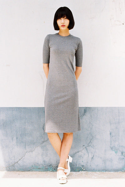 Low Key ribbed midi dress