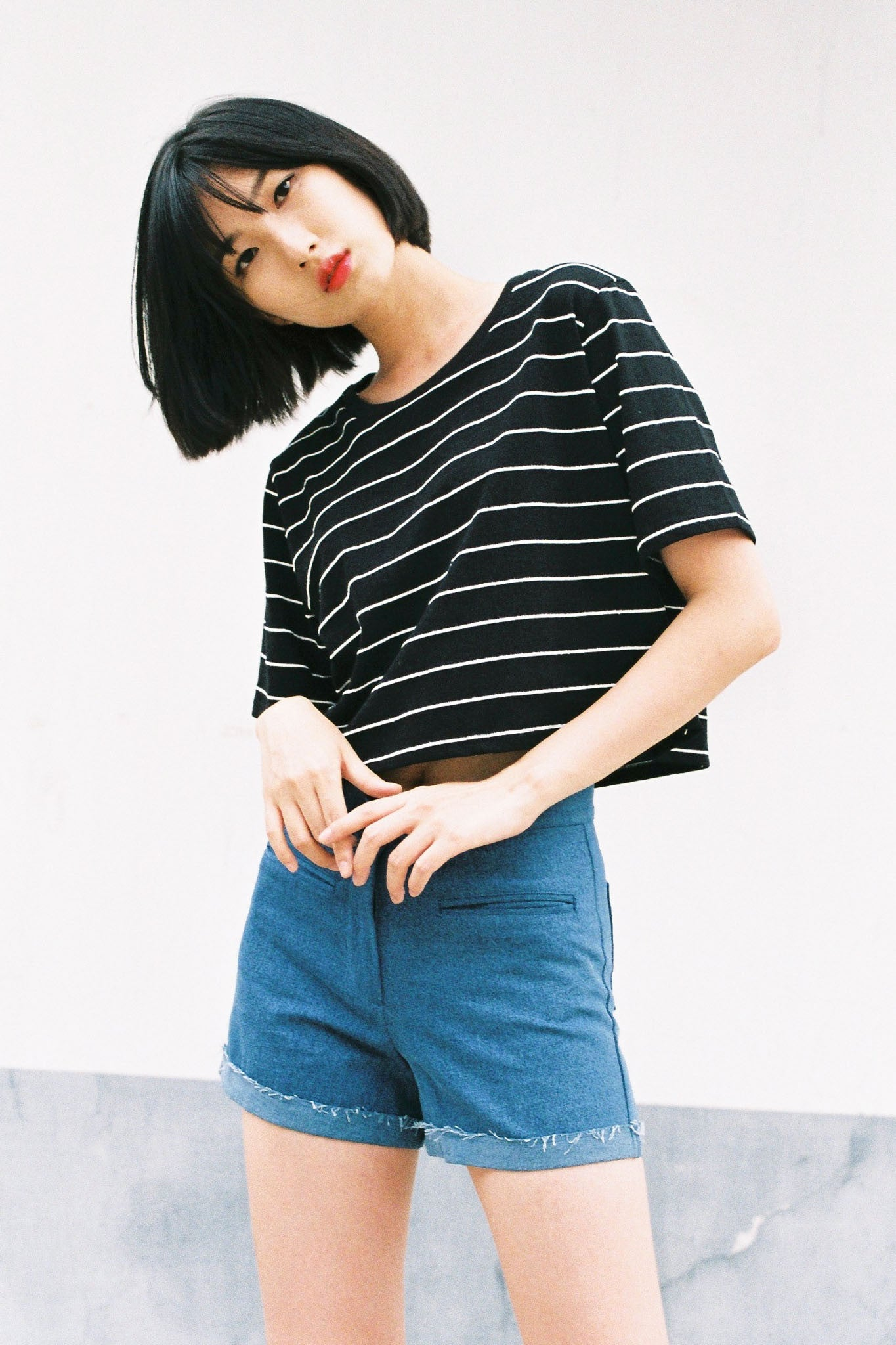 Dawson oversized cropped top