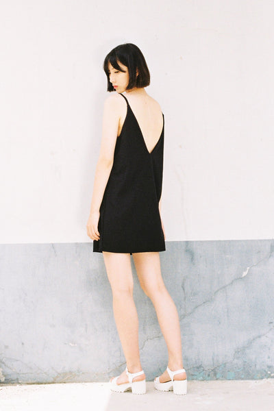 Kendall V-back shift dress