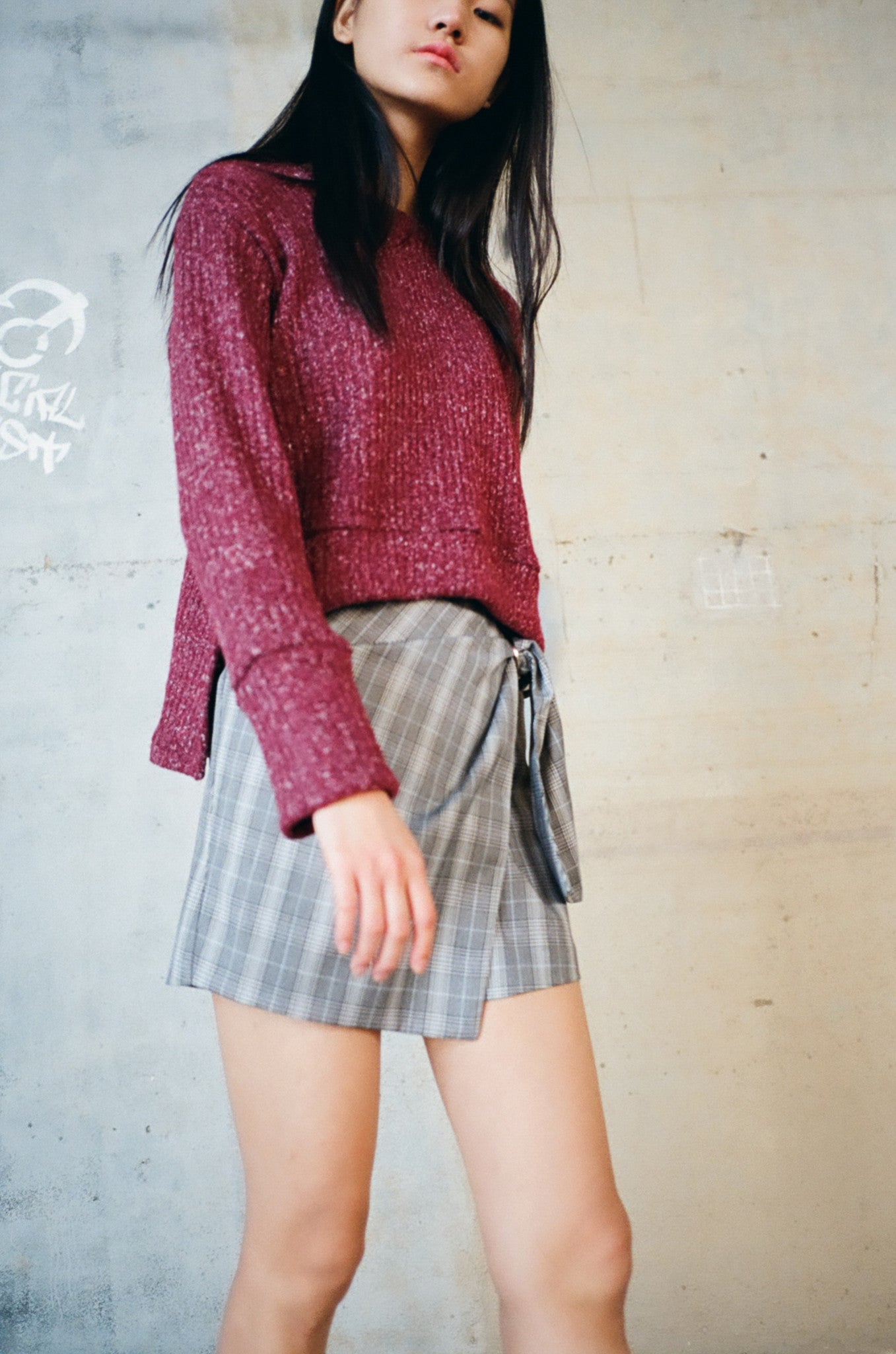 January chunky step hem knit