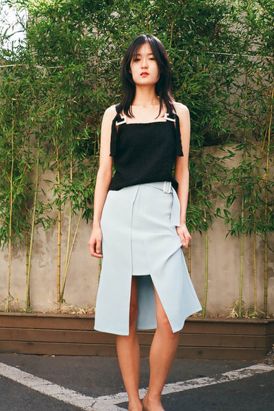 Chance cut-out midi skirt
