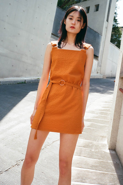 Honey textured shift dress