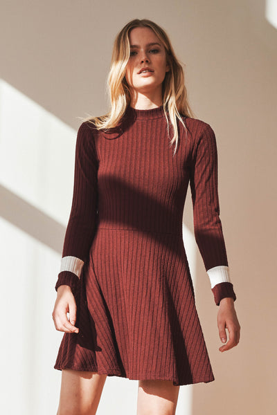 Reader ribbed skater dress