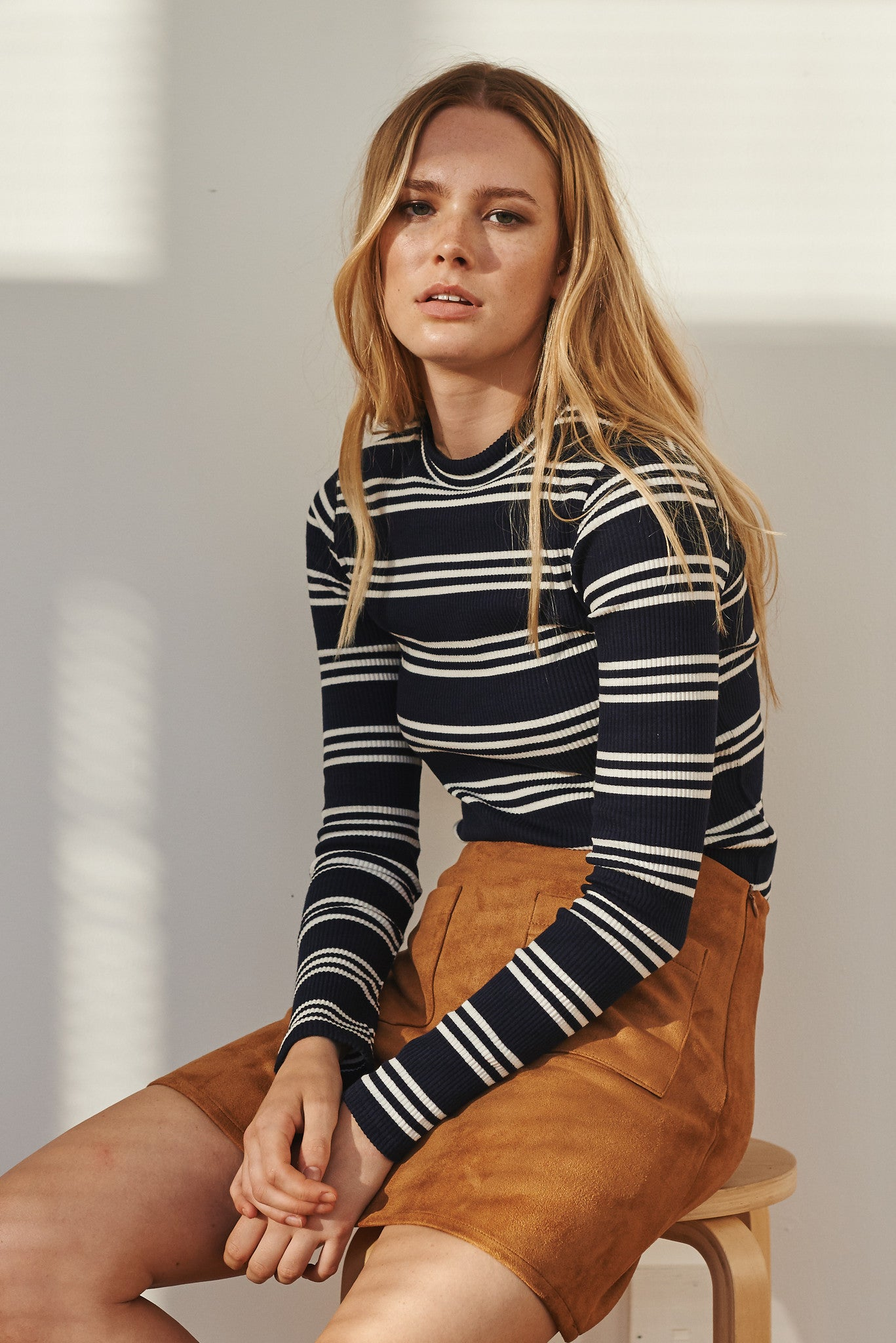 Camus multi-stripe ribbed top