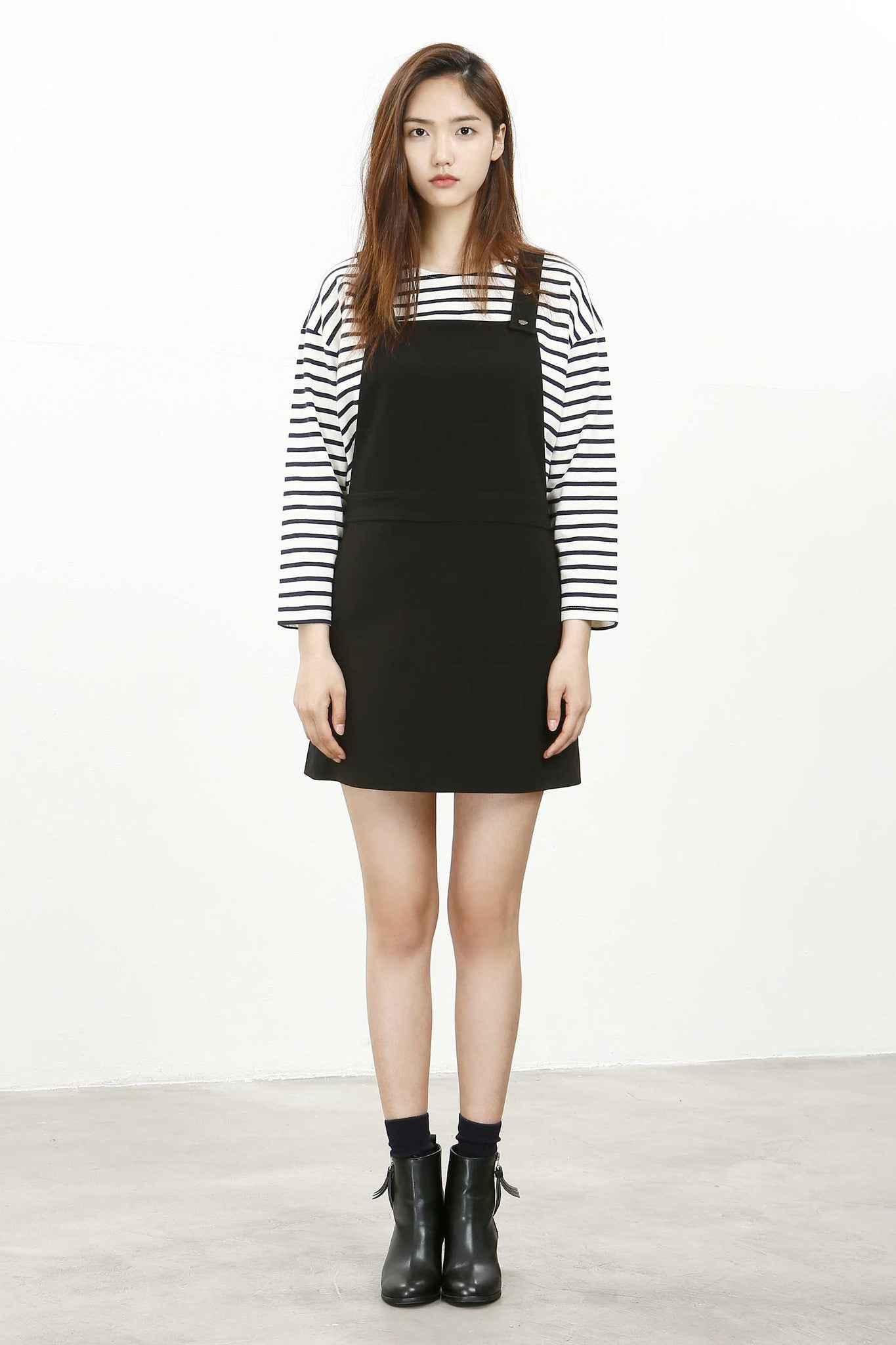 Hongdae woven pinafore dress