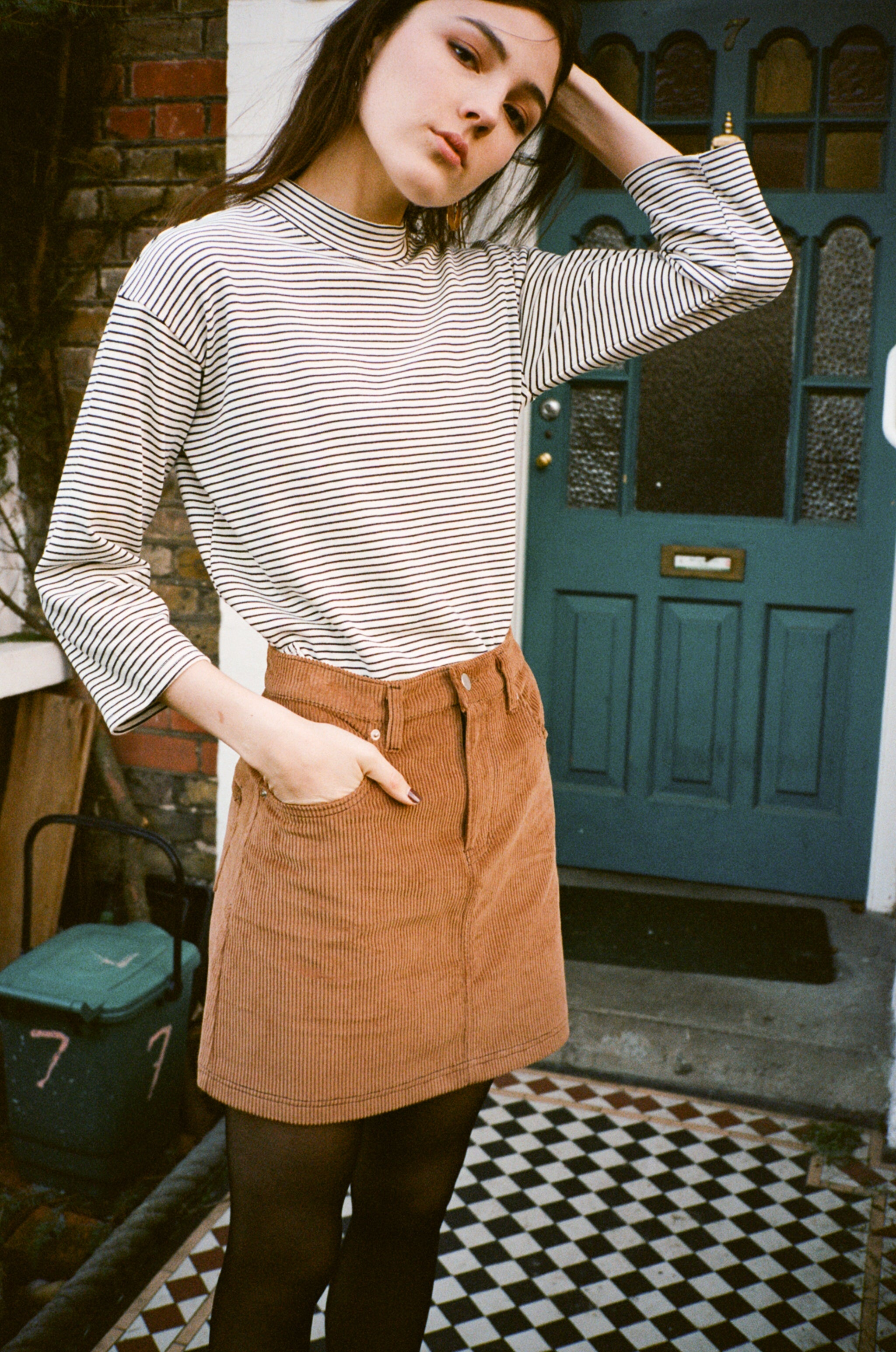 Mimi corduroy mini skirt