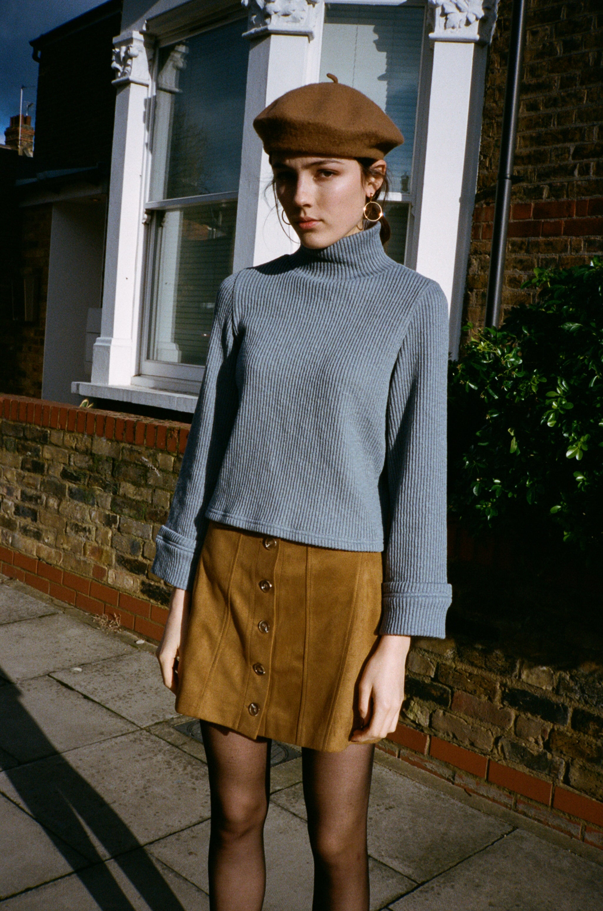 Intro mock neck cropped jumper