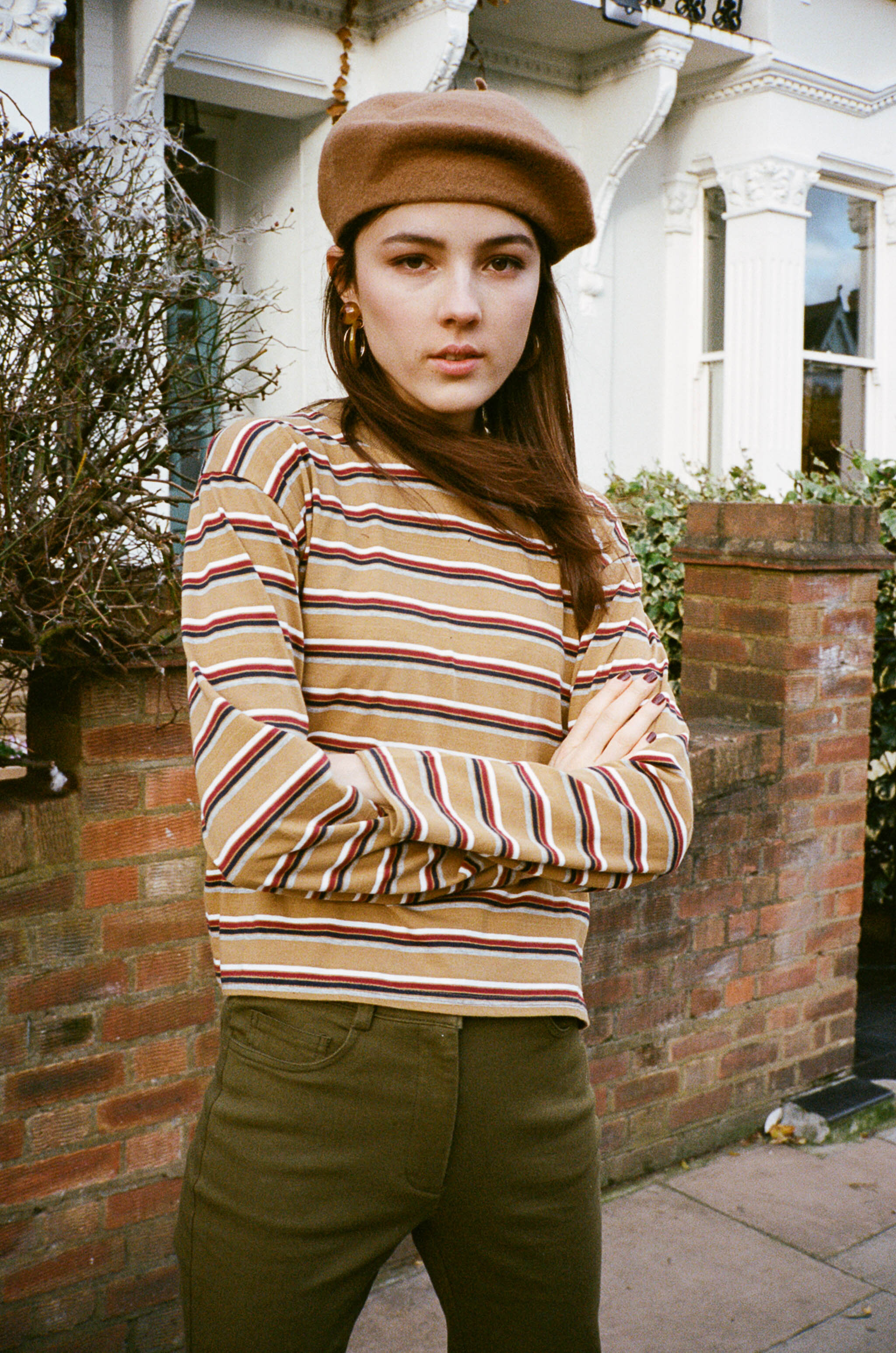 Jane oversized multistripe top