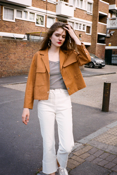 John cropped pocket jacket