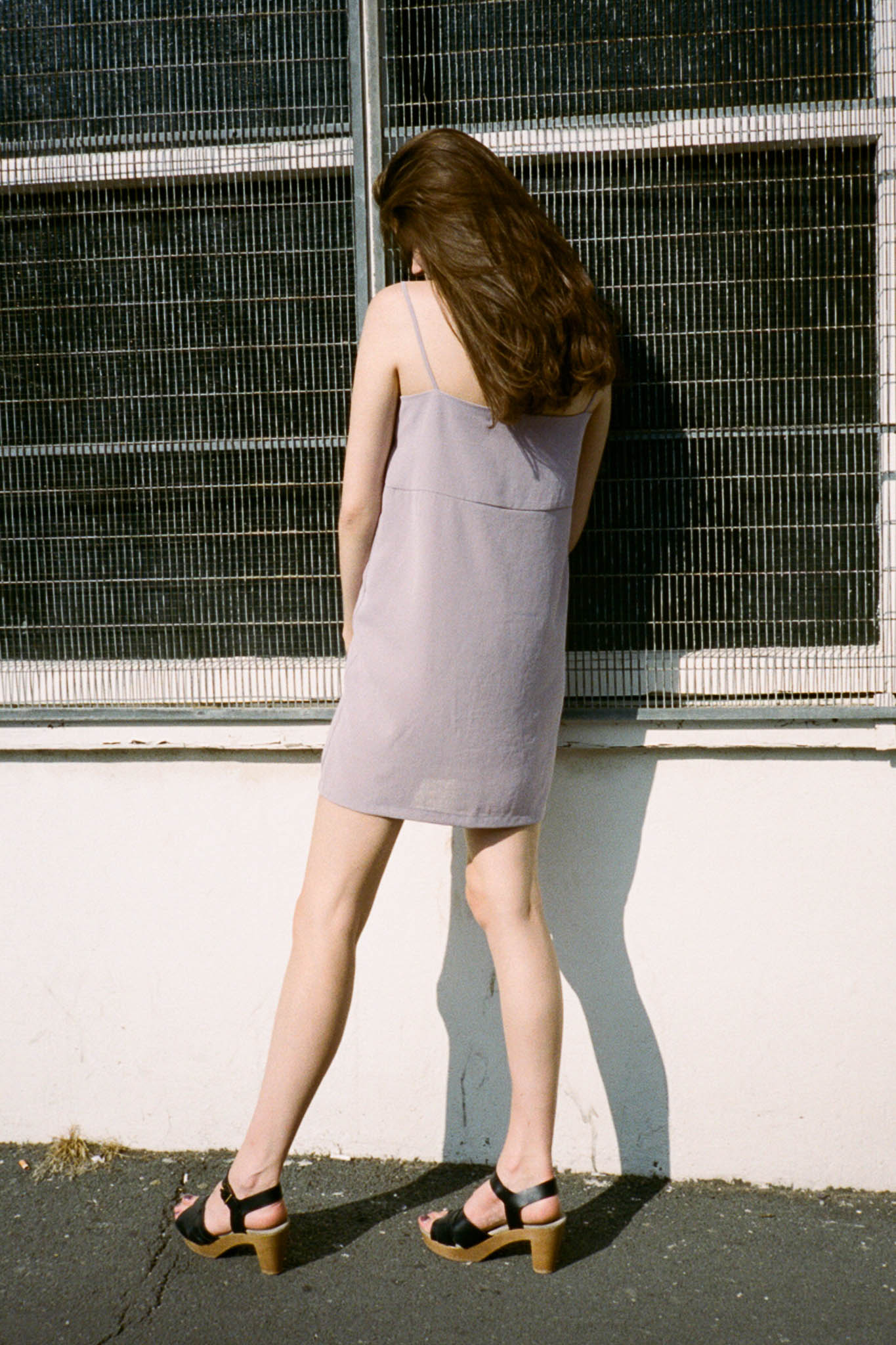 Naomi textured slip dress
