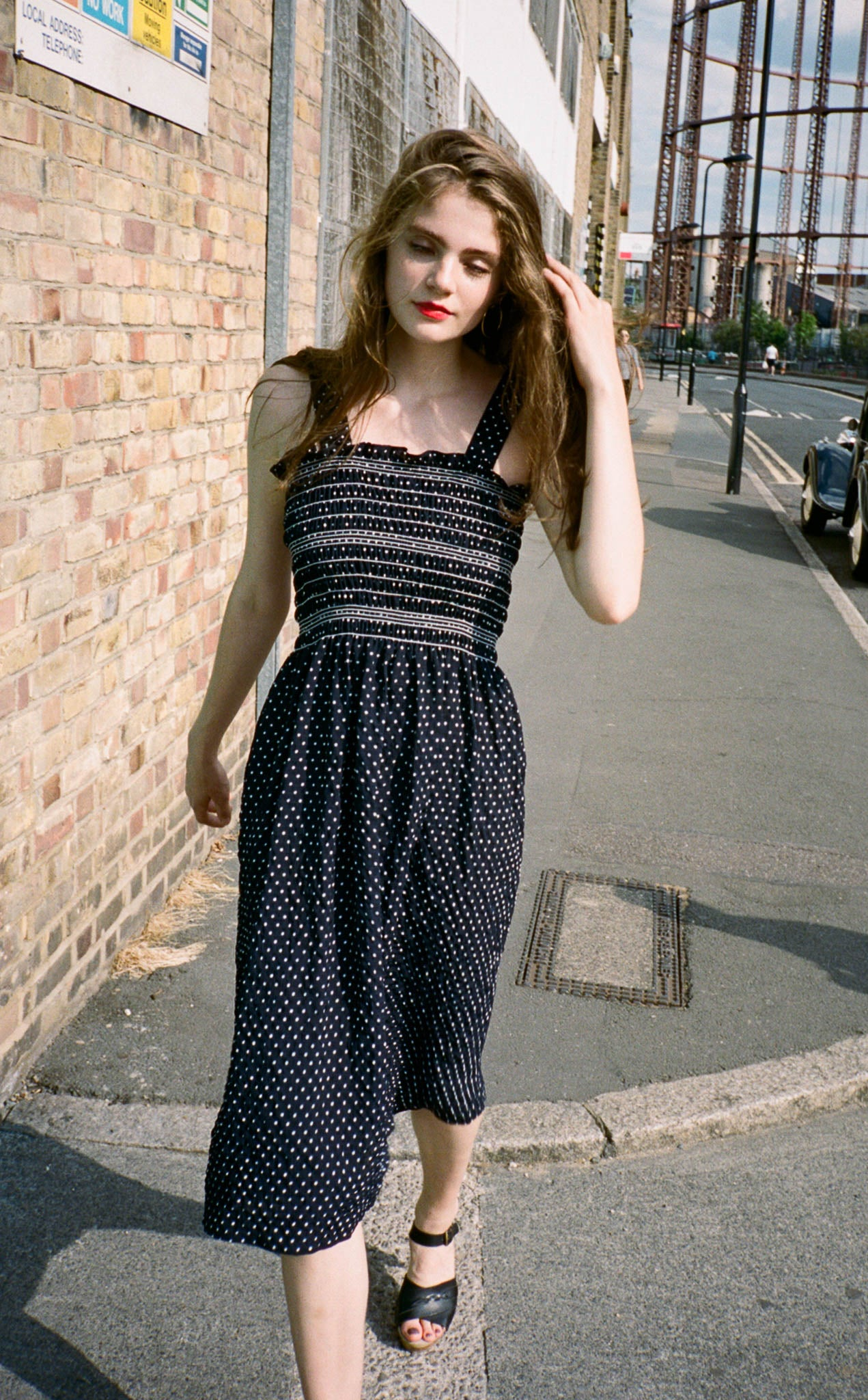 Maud smocked dotted dress