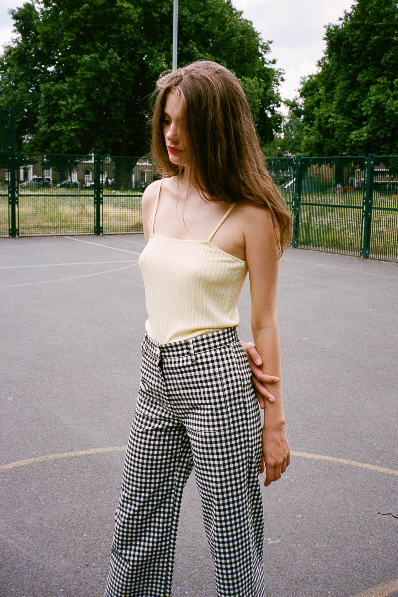 Dare gingham relaxed pants