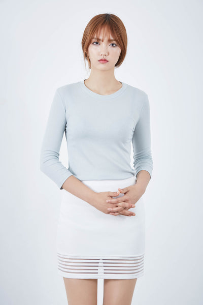 Everyday Love 3/4 sleeve ribbed top