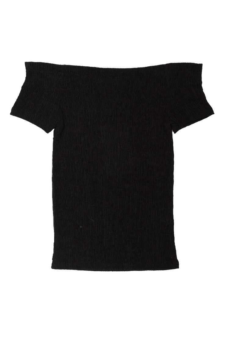 Modern Brigitte textured off-shoulder top
