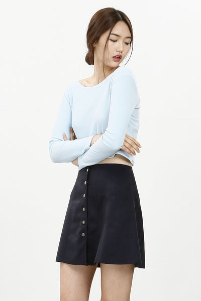 New 70s suedette buttoned skirt