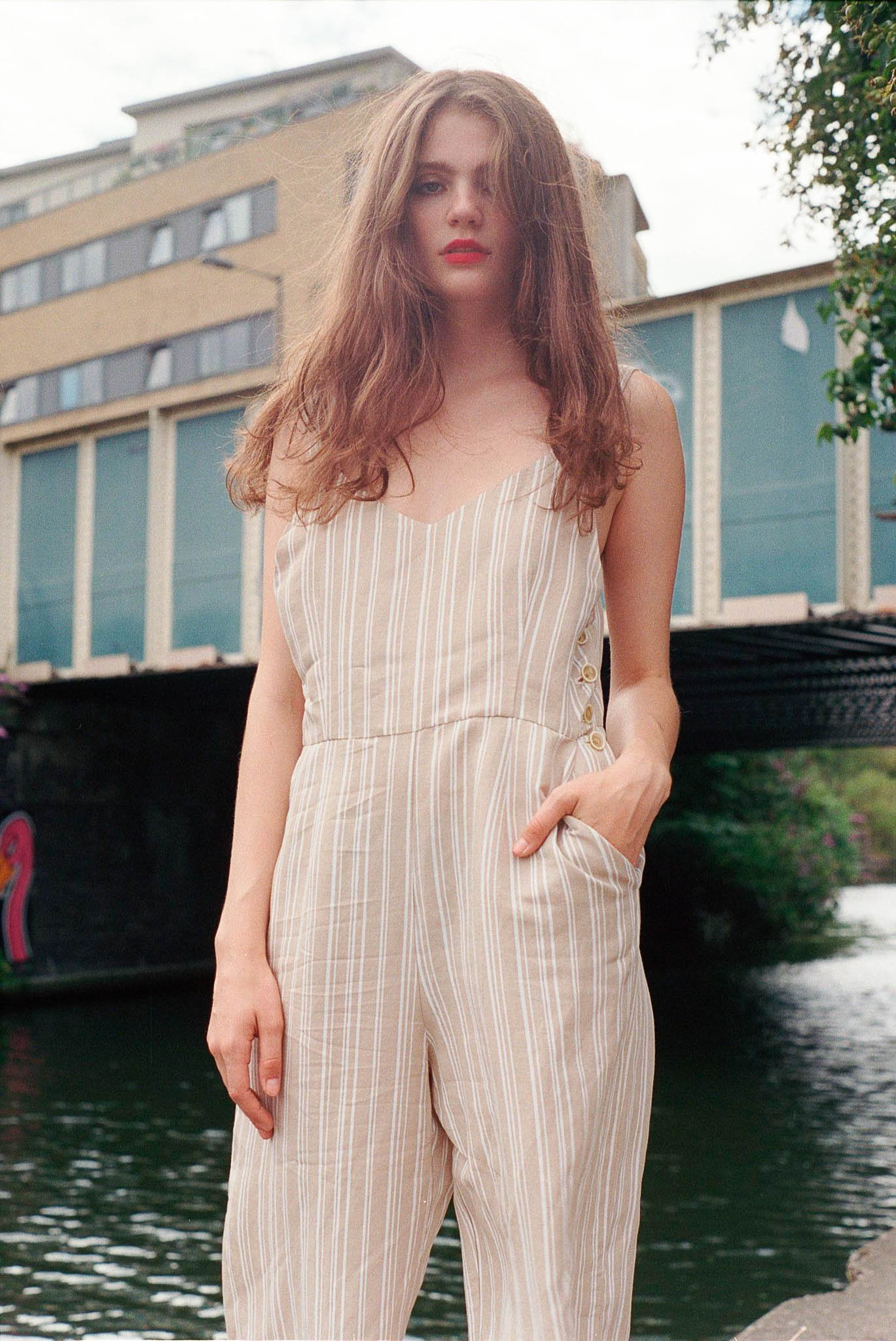 Moment striped jumpsuit