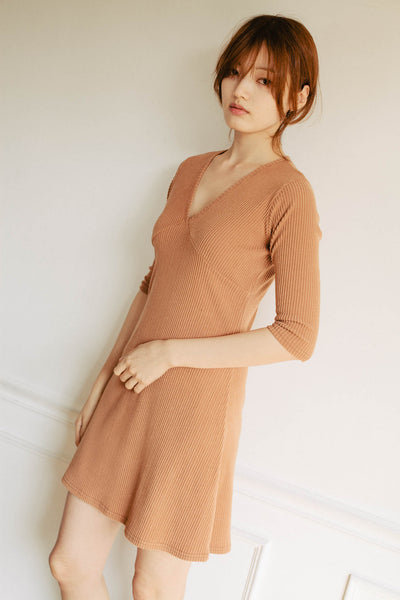 Gemini ribbed dress