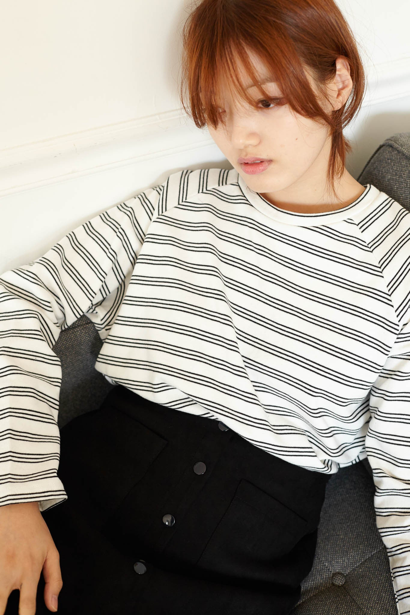 Weekend striped raglan sweater