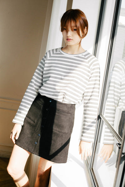 Douzieme buttoned skirt with pockets