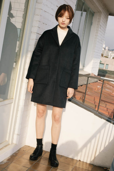 Seizieme dropped shoulder wool coat