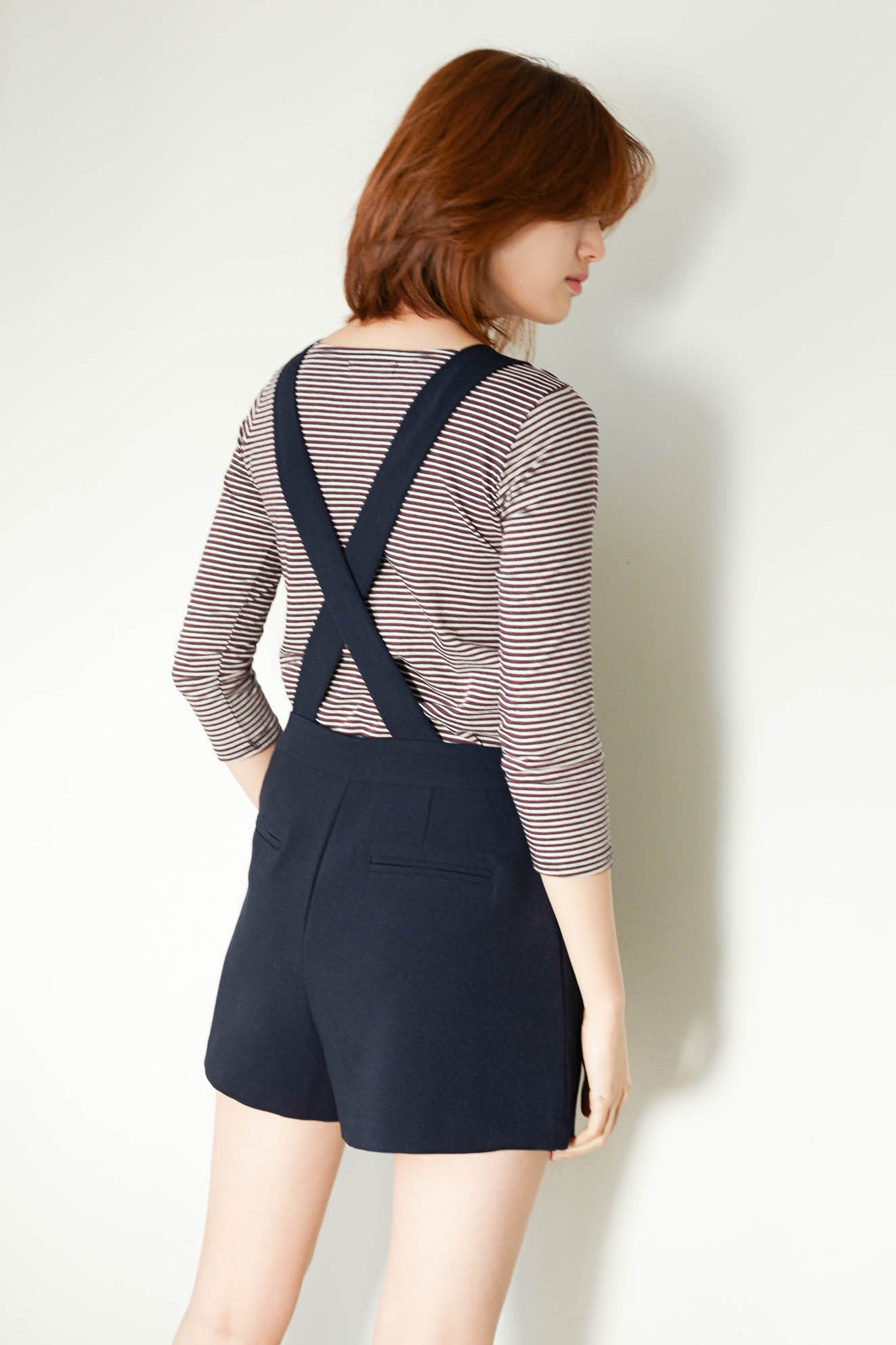 Geek boat neck striped top