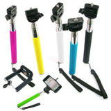 Camera Monopod Selfie Stick 1M for cellphone Apple iphone Multi Colors - White - Selfie Stick - Althemax - 2
