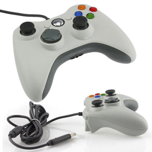 Wired Xbox 360 USB Game Pad Joysticks Controller For xBox 360 or PC White - XBox 360 Accessories - Althemax - 1
