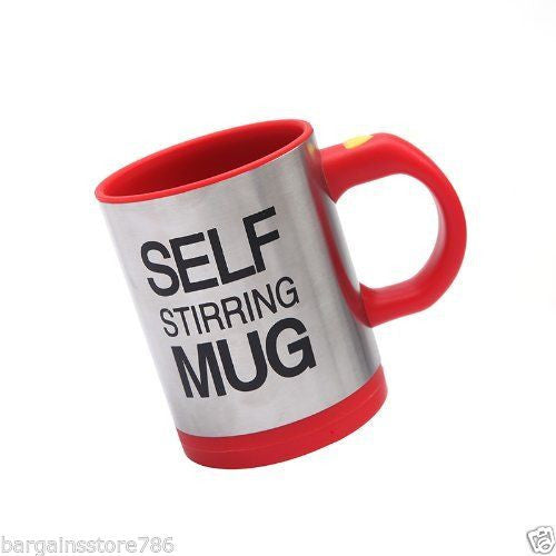 Lazy Auto Self Stir Stirring Mixing Tea Coffee Cup Mug Work Office - Red - Gift - Althemax - 2