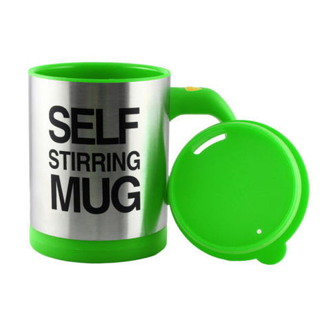 Lazy Auto Self Stir Stirring Mixing Tea Coffee Cup Mug Work Office - Green - Mug - Althemax - 1