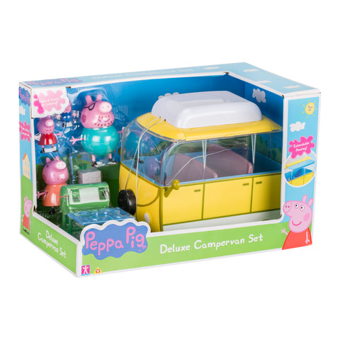 Peppa Pig Campervan With Peppa Family and Table Play Set
