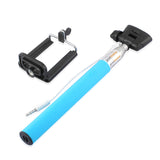 Blue 3.5mm Extendable Selfie Wired Stick Phone Holder Remote Shutter Monopod For smartphone iphone - Tripods & Monopods - Althemax - 4