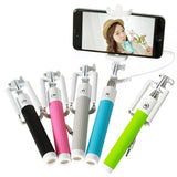 Fashion Extendable Wired Remote Shutter Selfie Stick Monopod For iPhone Smartphone - Blue - Tripods & Monopods - Althemax - 2