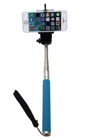 Camera Monopod Selfie Stick 1M for cellphone Apple iphone Multi Colors - Blue - Selfie Stick - Althemax - 1