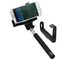 Built in Bluetooth Extendable Selfie Stick Monopod Holder Multi Available - Black - Tripods & Monopods - Althemax - 1