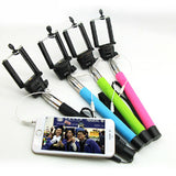 Black 3.5mm Extendable Selfie Wired Stick Phone Holder Remote Shutter Monopod For smartphone iphone - Tripods & Monopods - Althemax - 6