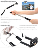2in1 Camera Monopod Selfie Stick Bluetooth remote package 1M for cellphone Apple iphone Black - Selfie Stick - Althemax - 10
