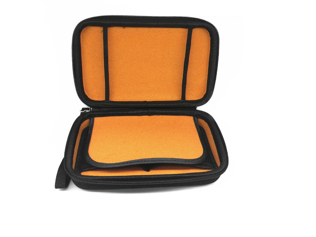 Althemax® Carrying Case Protective, hard, portable carrying case Carrying case Multi bag Orange interior for Nintendo Switch black